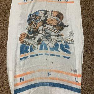 Vintage Chicago bears nfl blanket